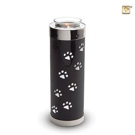 Kerzenhalter/Urne mit Pfötchen