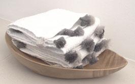 Supersoft Cotton Gästehandtuch mit handgeknüpften Quasten. 3er Set