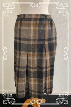 Mooie bruin geblokte rok van Atelier maat 40