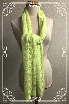 Neon gele gehaakte sjaal