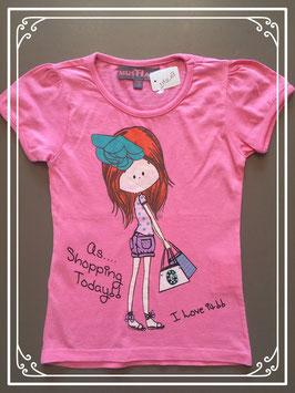 Roze T-shirtje van MustHave - maat 110