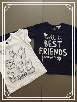 Best friends t-shirt set van Fagottino- Maat 86