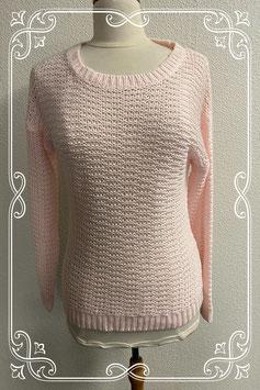Mooie roze gehaakte trui van Clockhouse maat S