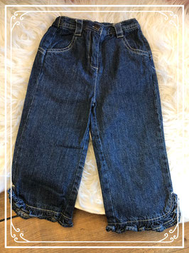 Spijkerbroek met roezeltjes - Maat 86