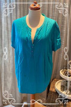 Blauwe blouse met korte mouwen van M&S - maat 54