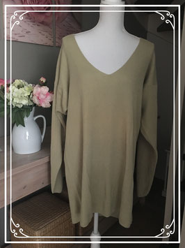 Licht olijfgroene trui van Chillytime - Maat 50-52