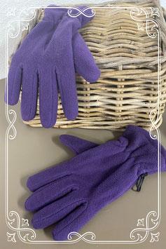 Paarse fleece handschoenen voor volwassenen