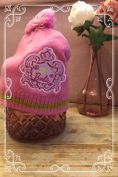 Roze muts van barbie maat 80/86/92