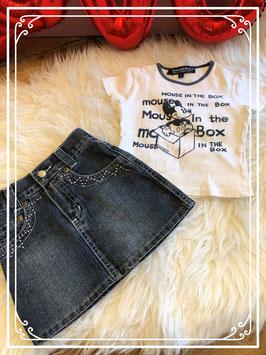 Tweedelig topsetje van shirt van DONALDSON en rokje van Victoria Beckham - maat 86