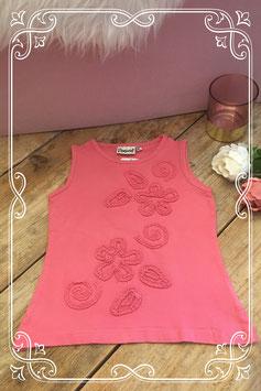 koraal kleurige top met 3d print van persival-maat 104-110