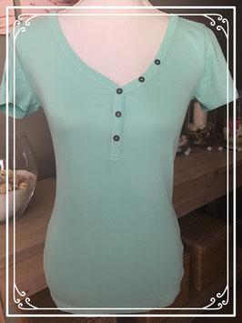 Nieuw mintgroen shirtje met knoopjes van C&A-maat XS