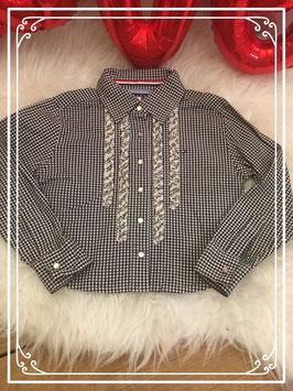 Zwart/wit blouse van Tommy Hilfiger - Maat 98