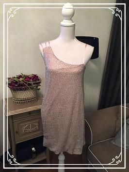 Oudroze glitter jurk van 3Suisses - maat 36