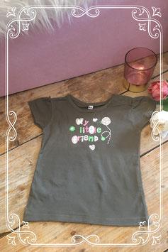 Legergroen korte mouwen shirt met print van Zeeman - Maat 86