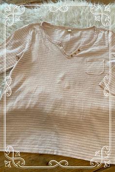 Roze-wit gestreept shirtje van het merk Esprite - maat xs