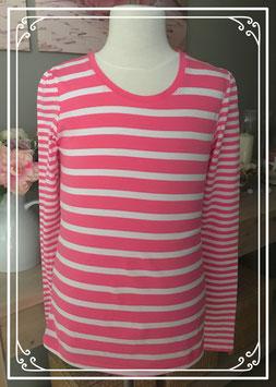 Roze gestreept t-shirt van HEMA - Maat 158-164
