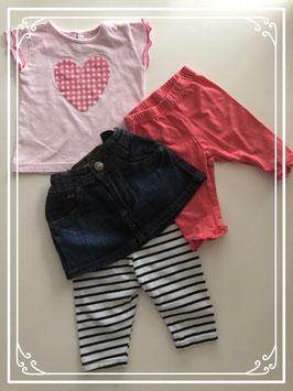 Schattige kleding set - Maat 74