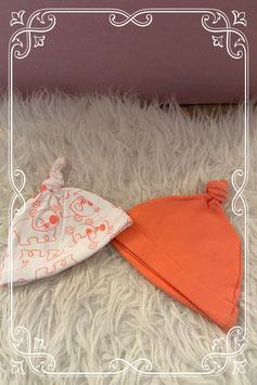 Set van twee babymutsjes van de Wibra