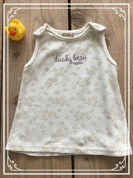 Wit schaapjes jurkje van Ducky Beau - Maat 62