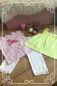 3 delige kledingset van verschillende merken - Maat 128