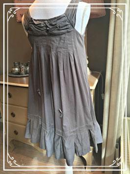 Kaki bruin-kleurige echte meisjes jurk - maat 146
