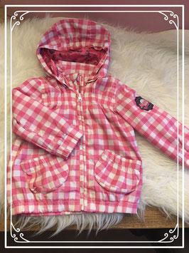 Roze geruiten jasje van Noppies - Maat 80