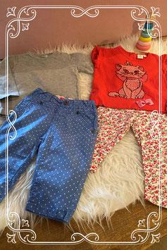 4 stuks kleding van de Hema en Disney baby - Maat 68