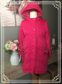 Getailleerde lange roze jas van de HEMA - Maat 122/128