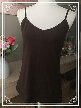 Nieuw: Bruin hemdje met spaghettibandjes - Maat XL