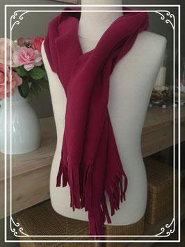 Nieuw: Donkerroze sjaal van TerStal
