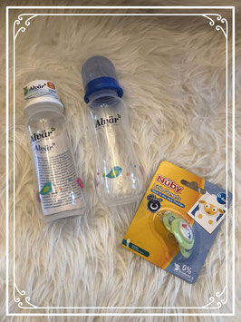 Set van 2 Alvar flessen en een Nuby speen