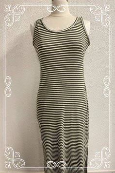 Lange gestreepte jurk in maat 42