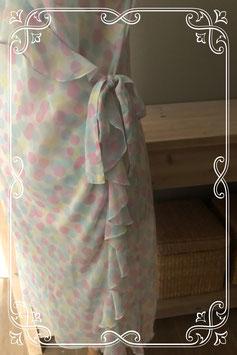 Doorzichtig jurkje met gekleurde stippen - Maat xxl