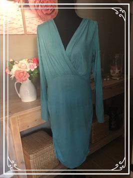 Lange turquoise jurk van Mama Licious - Maat L