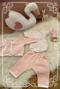 Driedelig roze setje van BamBam - maat 50-56