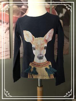 Langemouwen t-shirt met hert van Emoi - Maat 104