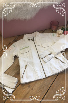 Super stoer wit jeans jasje van IL DOLCE-maat XS