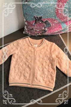 Poeder roze vestje van de H&M - maat 68