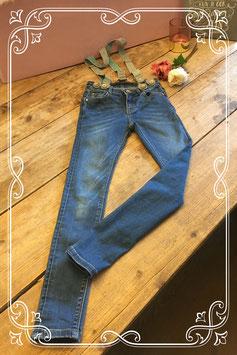 Mooie coolcat skinny jeans met bretels-maat 122-128