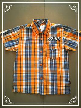 Oranje-grijs hemd van het merk Name IT - maat 116