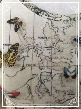 T-shirt met wereldkaart van cottonclub - maat xs