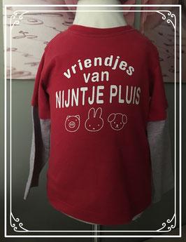 Rood lange mouwen Nijntje t-shirt - Maat 74