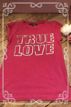 Roze T-shirt met opdruk van D-Zine - Maat 128/134