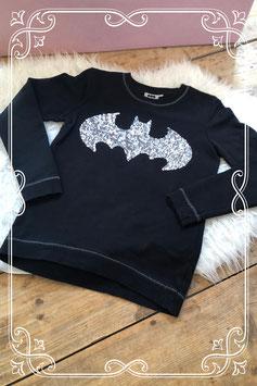 Glinsterende zwarte batman trui - Maat 158-164