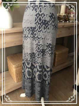 Grijze rok met donkerblauwe print van Expresso - Maat XS