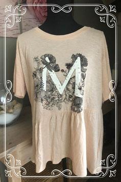 Nieuw: Lichtroze korte mouwen shirt van Page One - Maat L-XL