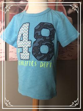 Aqua t-shirt merk H&M - maat 110/116