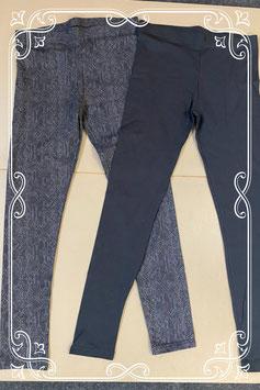 Nieuw! 2 leggings van C&A in zwart en slangenprint maat S