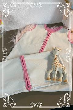 Wit met roze slaapzak van Prenatal maat 90