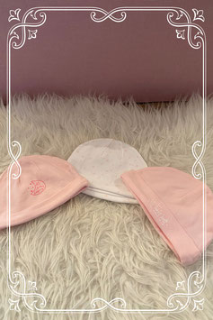 Set van drie babymutsjes van de Wibra